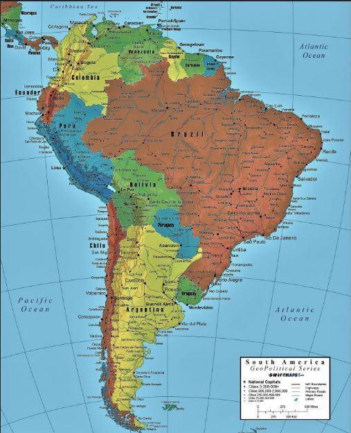Com O Auxilio De Um Mapa Mundi Politico Cite O Nome Dos Paises Da America Do Sul Que Estao Brainly Com Br