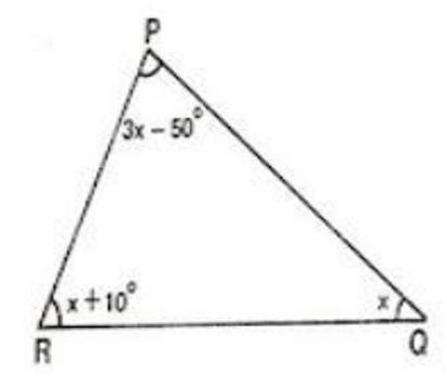 Determine o valor de x e da medida de cada um dos ângulos ...