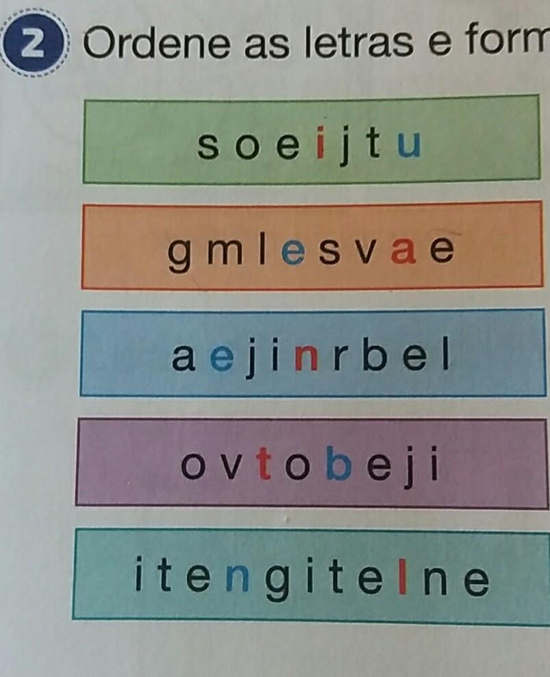 Ordene As Letras E Forme Palavras Brainlycombr