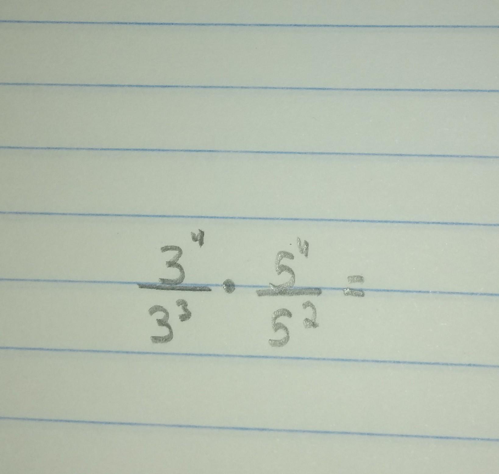 a4f6244fb4dbd Alguém pode me ajudar com esse cálculo  3⁴ 3³ 5⁴ 5² - Brainly.com.br