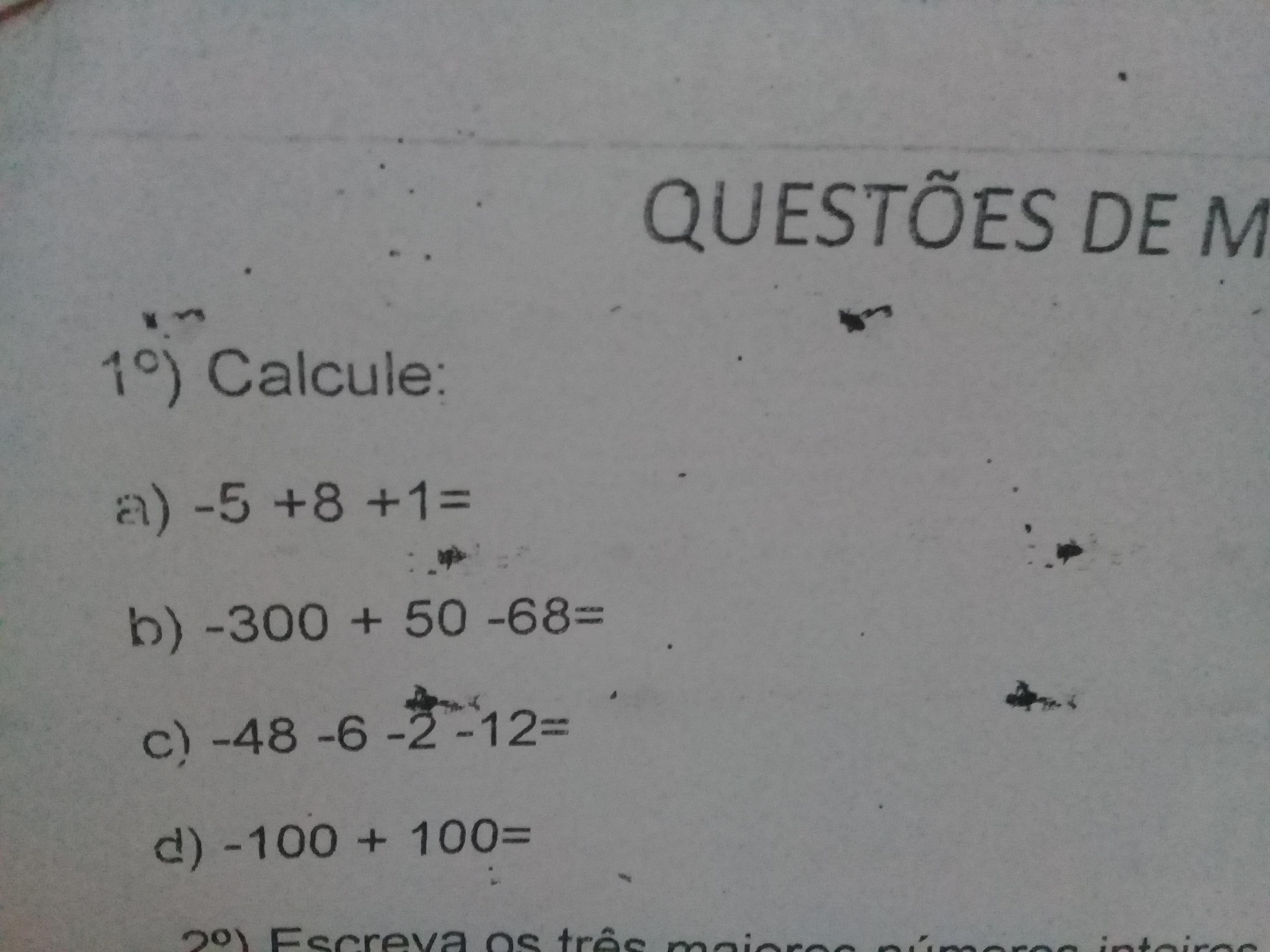 Calcule Questoes De Matematica Do 7 Ano Brainly Com Br
