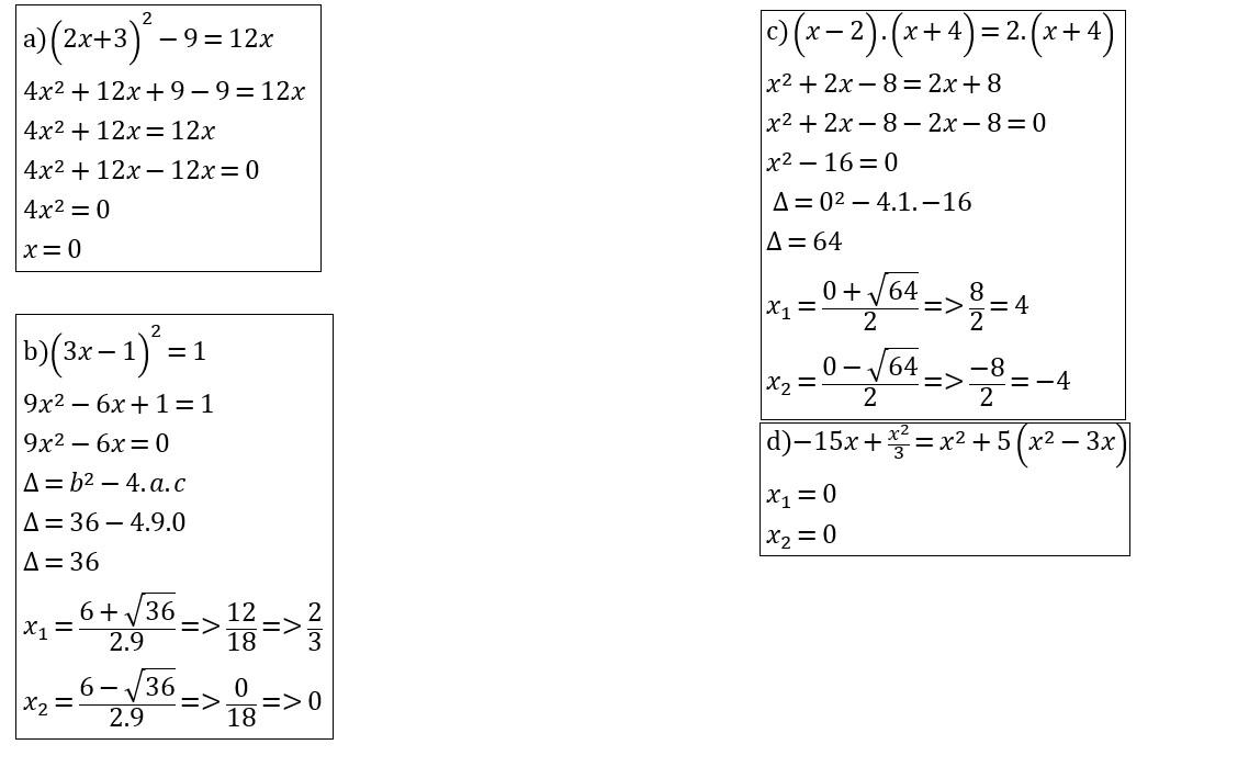 a3a71a05908 calcule as raízes de cada equação - Brainly.com.br
