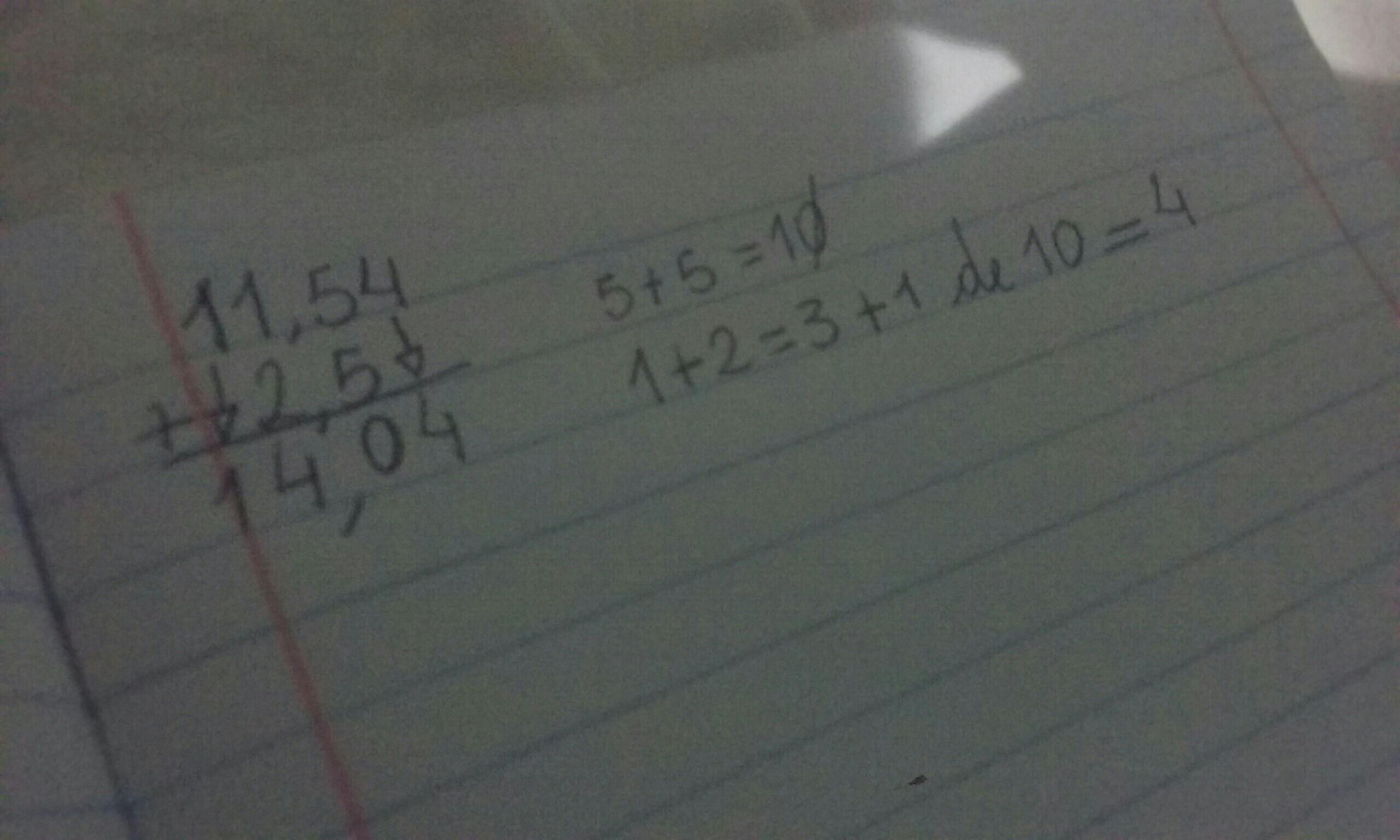09bc910b4a099 Preciso de ajuda com esse cálculo 11,54 + 2,5   - Brainly.com.br