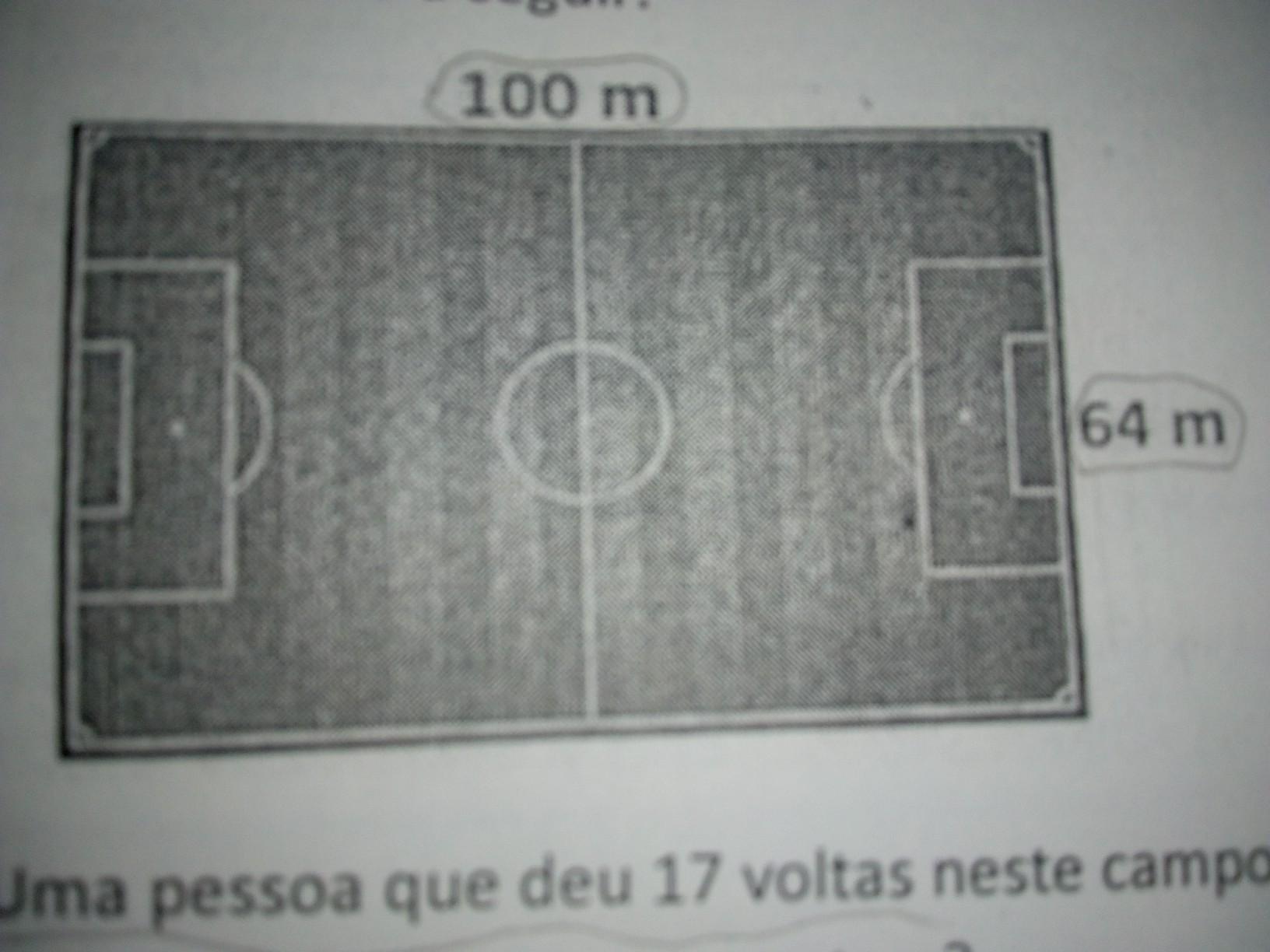 85bc2a32fd Observe a representação de um campo de futebol apresentado a seguir ...