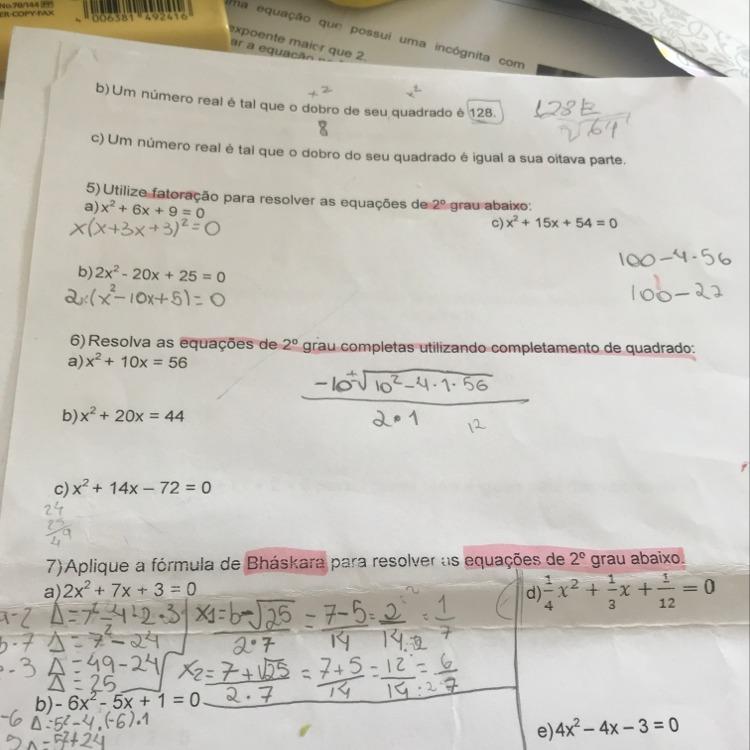7378373740f Respostas. A melhor resposta! royalfamiliy  Principiante. Use a fórmula de  Bhaskara