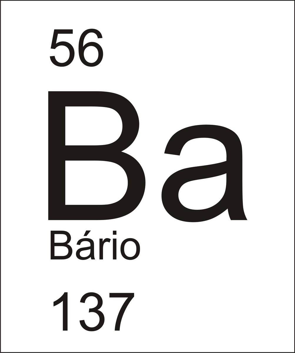Represente O Elemento B 225 Rio Cujo S 237 Mbolo 233 Ba E Apresebta