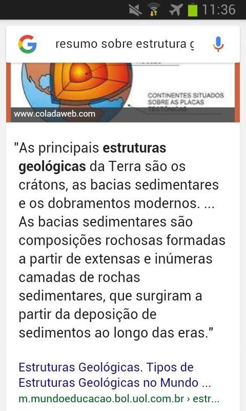 Preciso De Um Resumo Sobre Estrutura Geológica Brainly Com Br