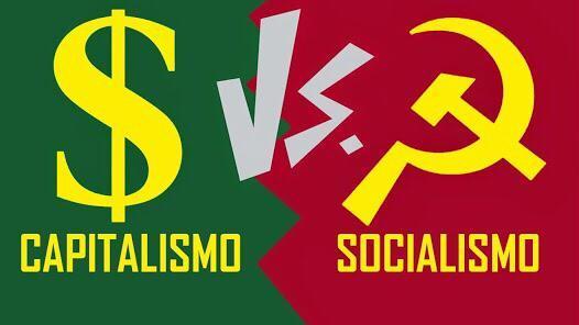A imagem 3 mostra o símbolo do capitalismo e do socialismo. Observe e  descreva o que cada um - Brainly.com.br