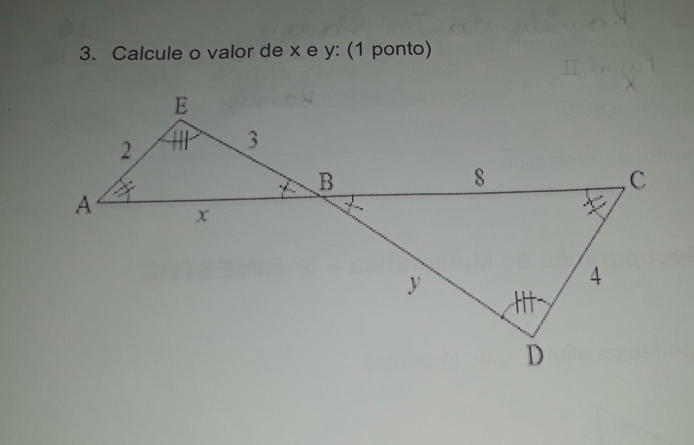 46cdea7247cbe podem me ajudar com esse cálculo  preciso achar o valor de x e y tbm ...