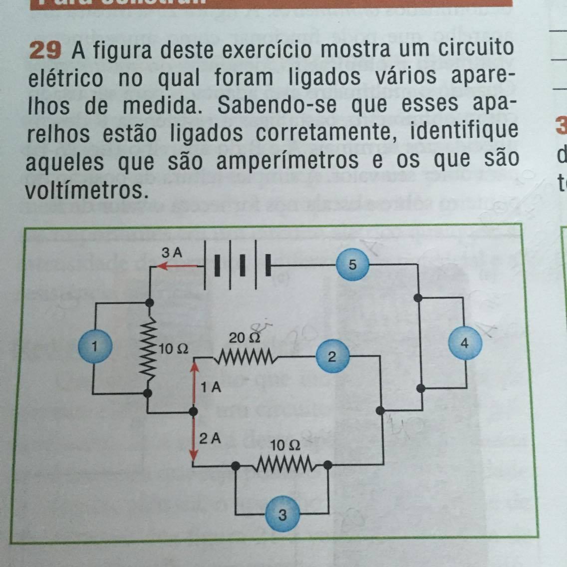 Circuito Eletrico : A figura desse exercício mostra um circuito elétrico no qual foram