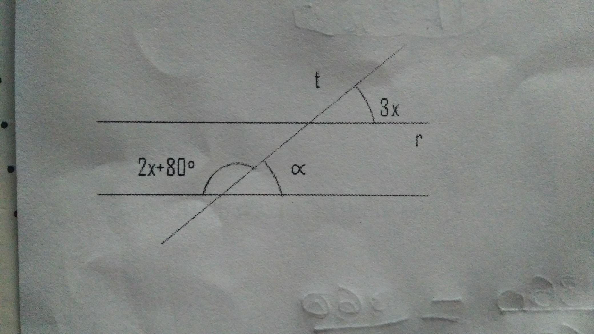 Na figura abaixo as retas r e s são paralelas e cortadas ...