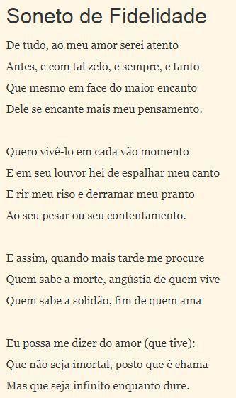 1 O Poema De Vinicius De Morais Apresenta Recursos Formais Como