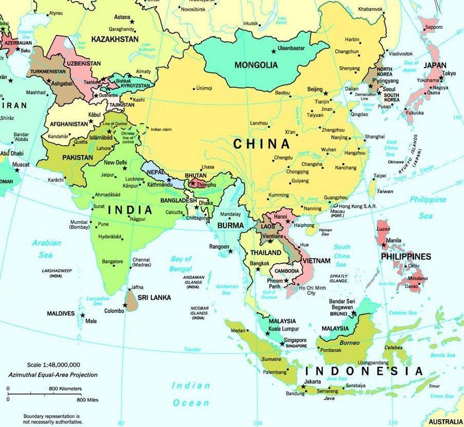 continente asiatico mapa