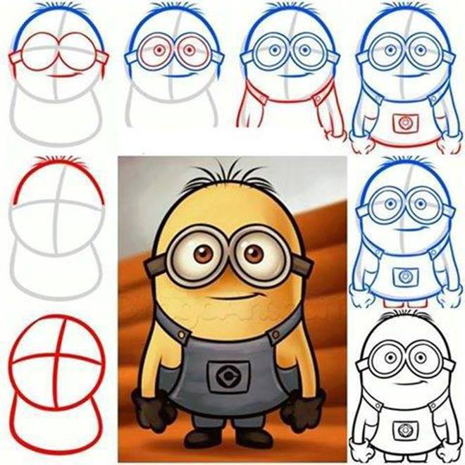 Como Desenhar Um Minion Brainly Com Br