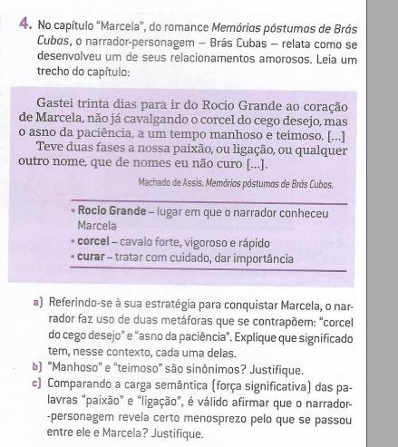4no Capítulo Marcela Do Romance Memórias Póstumas De Brás Cubas