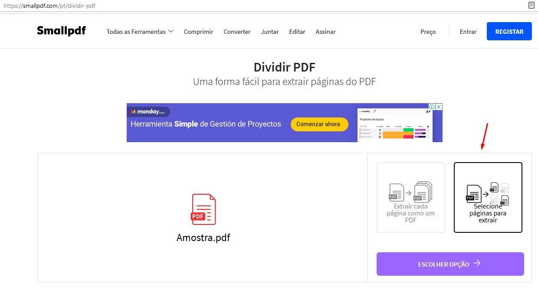 Dividir Arquivo Pdf