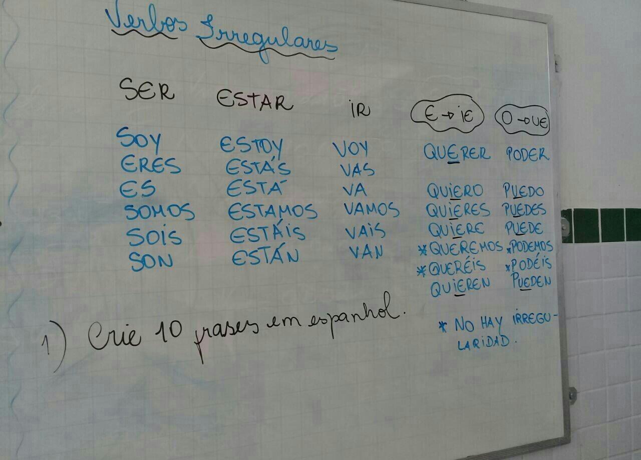 Crie 10 Frases Em Espanhol Brainlycombr