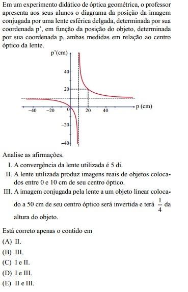 Em um experimento didático de óptica geométrica, o professor ... 738a7990fd