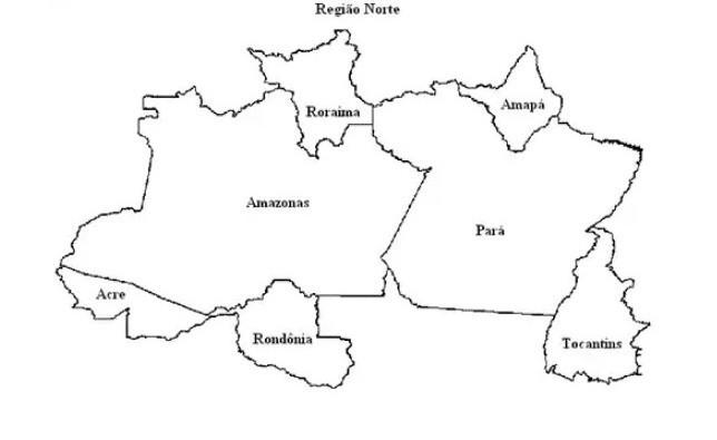 luiz precisa colorir os estados do mapa da região norte do brasil