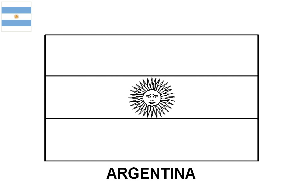 como vou desenhar as bandeiras dos paises argentina bolívia chile