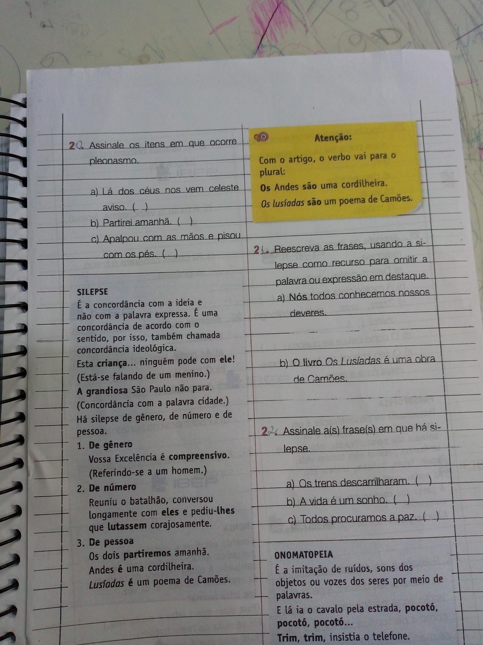 Reescreva As Frases Usando O Silepse Como Recurso Para O Omitir A