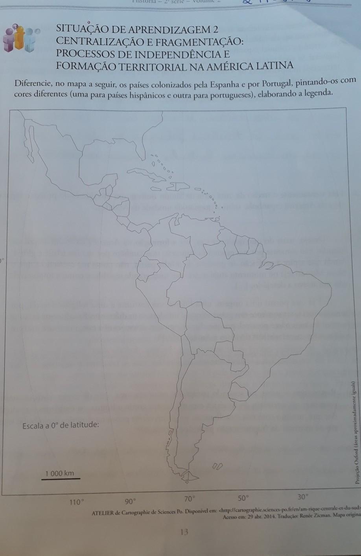 Diferencie No Mapa A Seguir Os Paises Colonizados Pela Espanha E