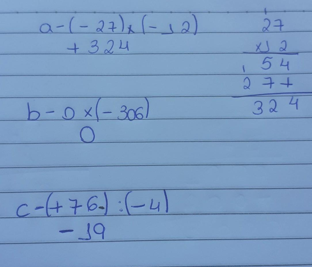 Calcule A 27 12 B 0 306 C 76 4 Ppvfff Brainly Com Br