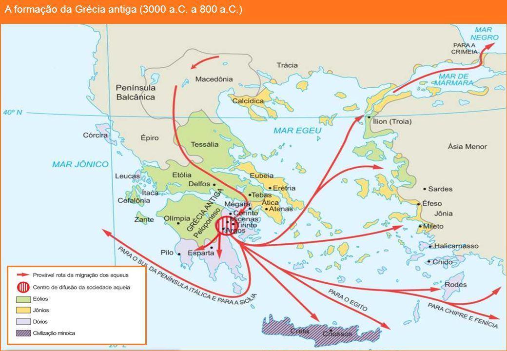 Observe Atentamente O Mapa Sobre A Formacao Da Grecia Antiga Com