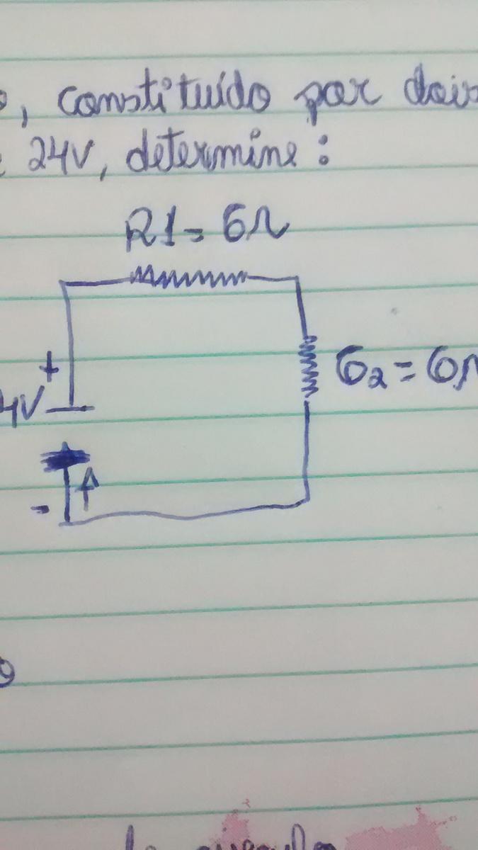 Circuito Eletrico : No circuito elétrico da figura constituído por dois