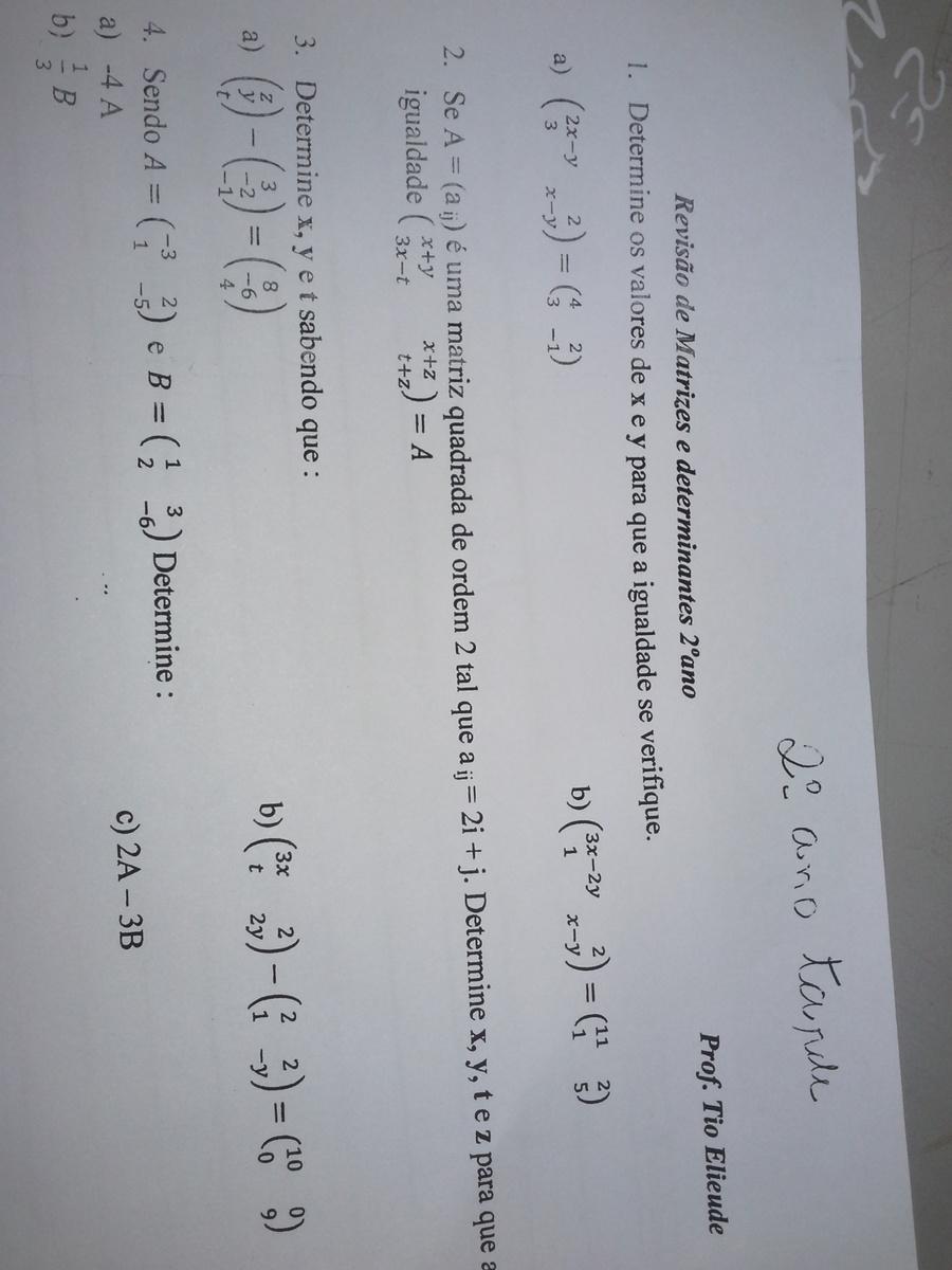Responder Matematica 2ano Do Ensino Medio Brainly Com Br