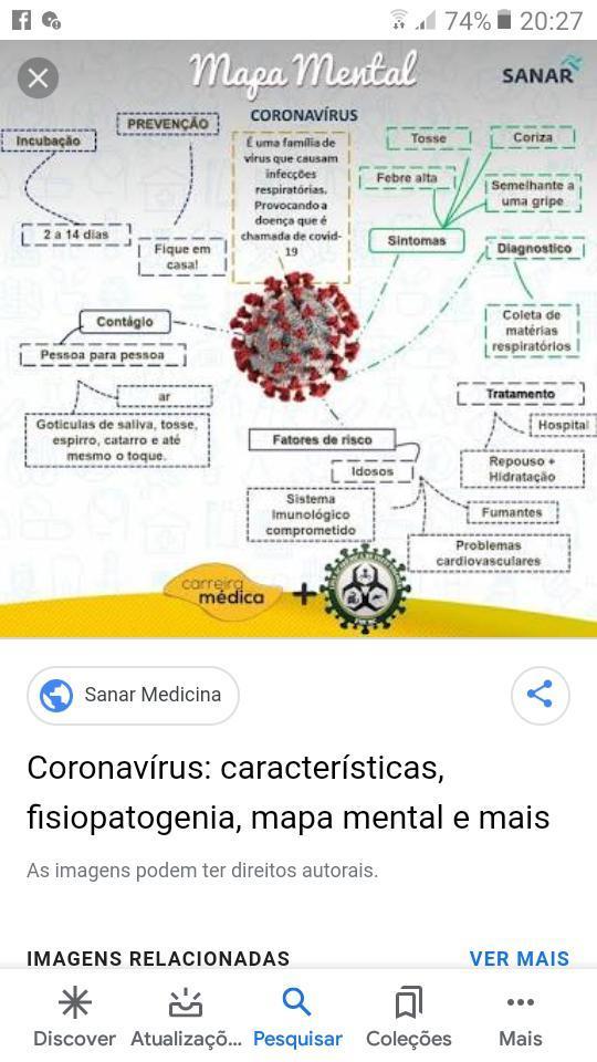 """Faça um mapa mental sobre o texto """"COVID-19 (doença ..."""